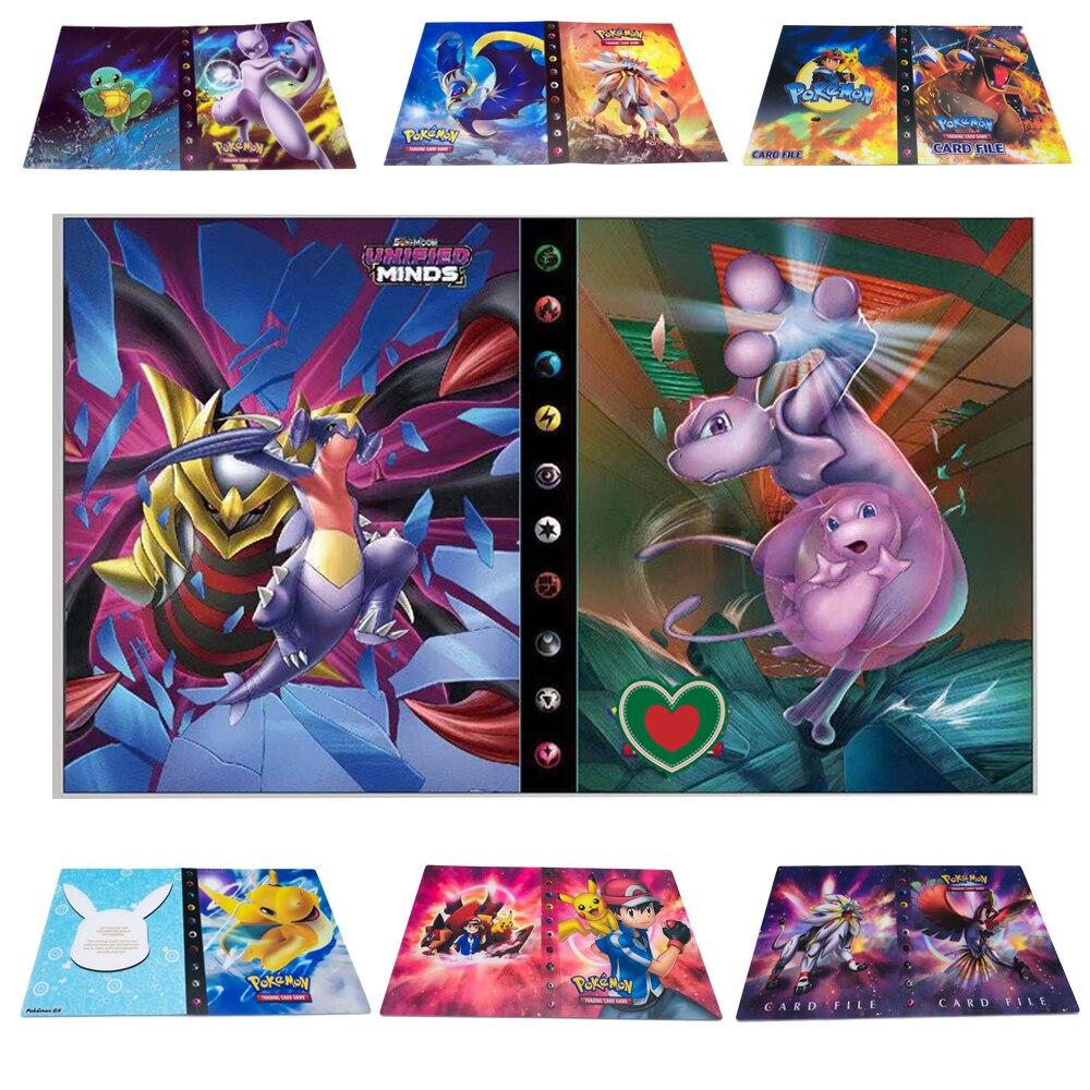 2019 mais novo 23 estilos 240 pçs titular álbum brinquedos coleção pokemon cartões álbum livro lista carregado superior brinquedos presente para crianças
