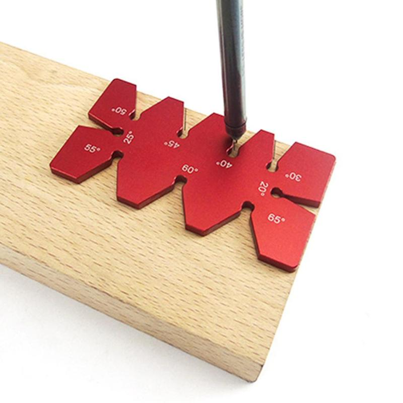 Aluminum Woodworking Tool Aluminium Alloy Angle Gauge Ruler Template Protractor Measuring Tools Angle Measurement 92x49x4mm