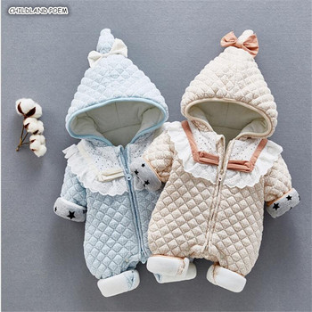 Baby Romper Winter Newborn Baby Snowsuit Cotton Thick Hooded Baby Girl Romper Infant Boy Romper Baby Jumpsuit Overalls фото