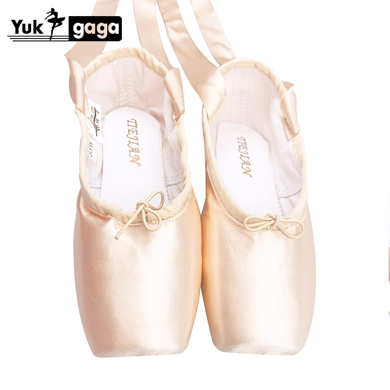 New Ballet Pointe Shoes Child And Adult Ballet Pointe Dance Shoes Ladies Professional Ballet Dance Shoes With Ribbons Shoes