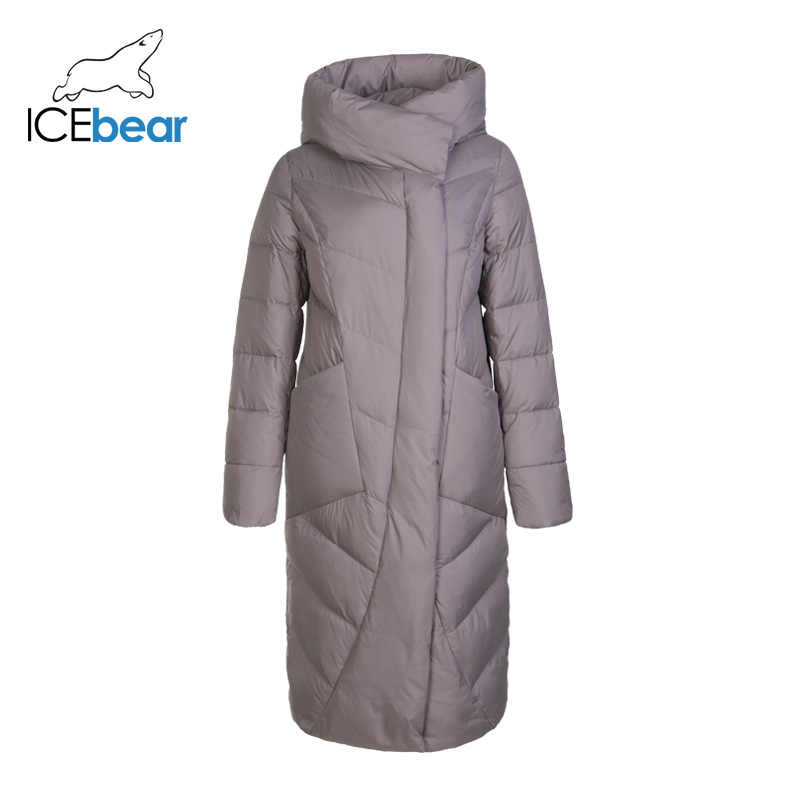 ICEbear 2019 new winter long women's cotton clothing fashion warm women's jacket hooded brand women's clothing GWD19127I