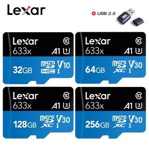 Lexar Memory Card MicroSD Card SDHC/SDXC 128GB 256GB 512GB High-Performance 633x 32GB 64GB UHS-I Class10 up to 95MB/s read