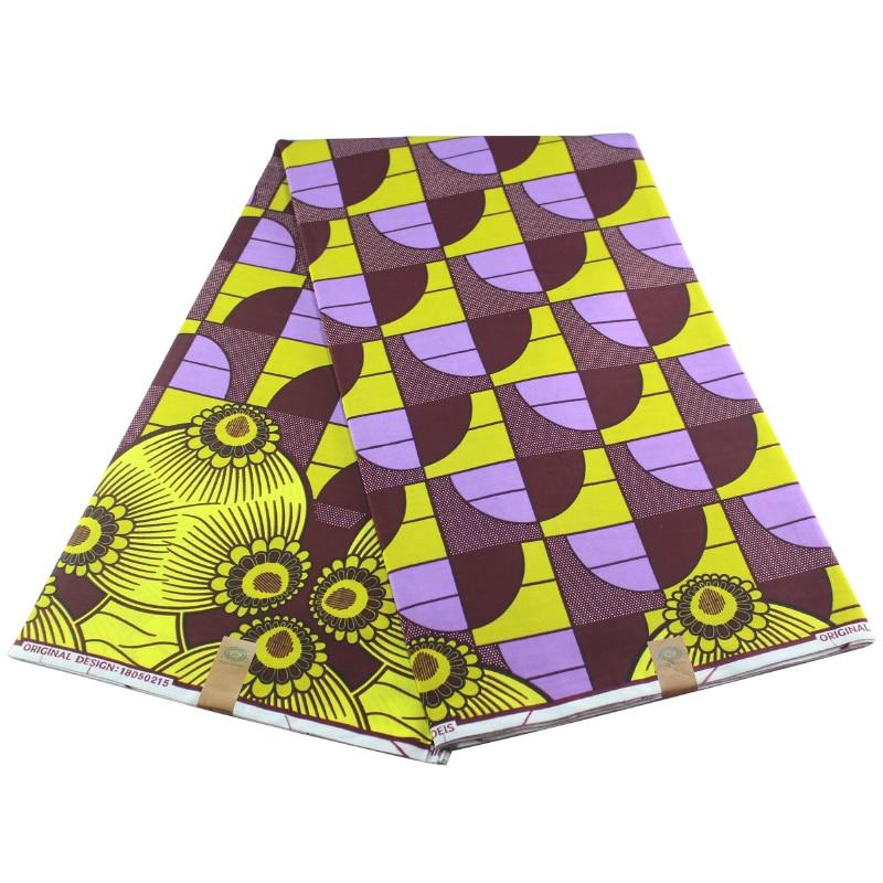 Real Dutch Wax High Quality Real Wax 6yards Veritable African Ankara Sewing Rule Pattern Fabric