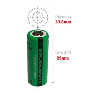 Image 4 - 50 adet PKCELL 2/3 AAA pil 400mAh 1.2V 2/3AAA NI MH şarj edilebilir pil NiMh 2/3aaa piller endüstriyel düz üst toptan