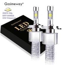 2PC 슈퍼 H4 LED H7 자동지도 XHP70.2 120W 23000LM 9005 HB3 9006 HB4 9012 D2H D1S H8 자동차 조명 교체 안개 램프