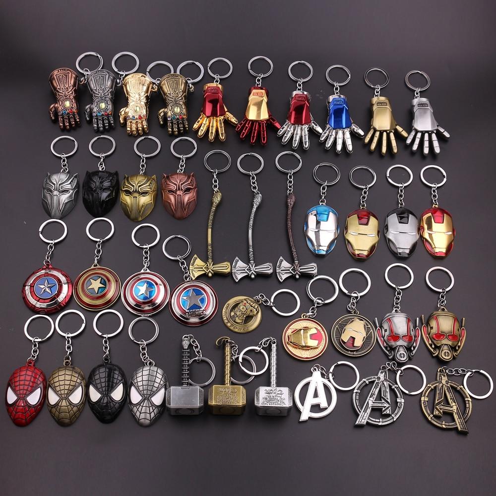 New Marvel Avengers Thor's Hammer Mjolnir Keychain Captain America Shield Hulk Batman Iron Man KeyChain Thanos Keyrings