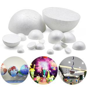 XMAS Polystyrene Styrofoam Foam Half Ball Hemisphere DIY Accessory Handmade For Party Celebration Decorations Craft DIY All Size(China)