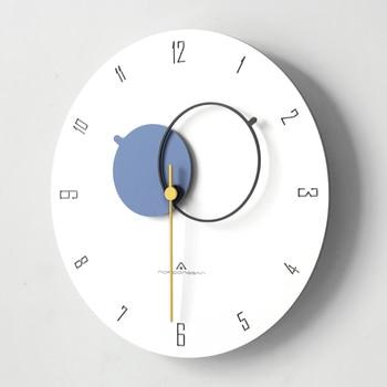 Creative Nordic Wall Clocks Minimalist Round Office Wall Clock Vogue Quartz Art Modern Orologio Da Parete Home Decoration AA50WC
