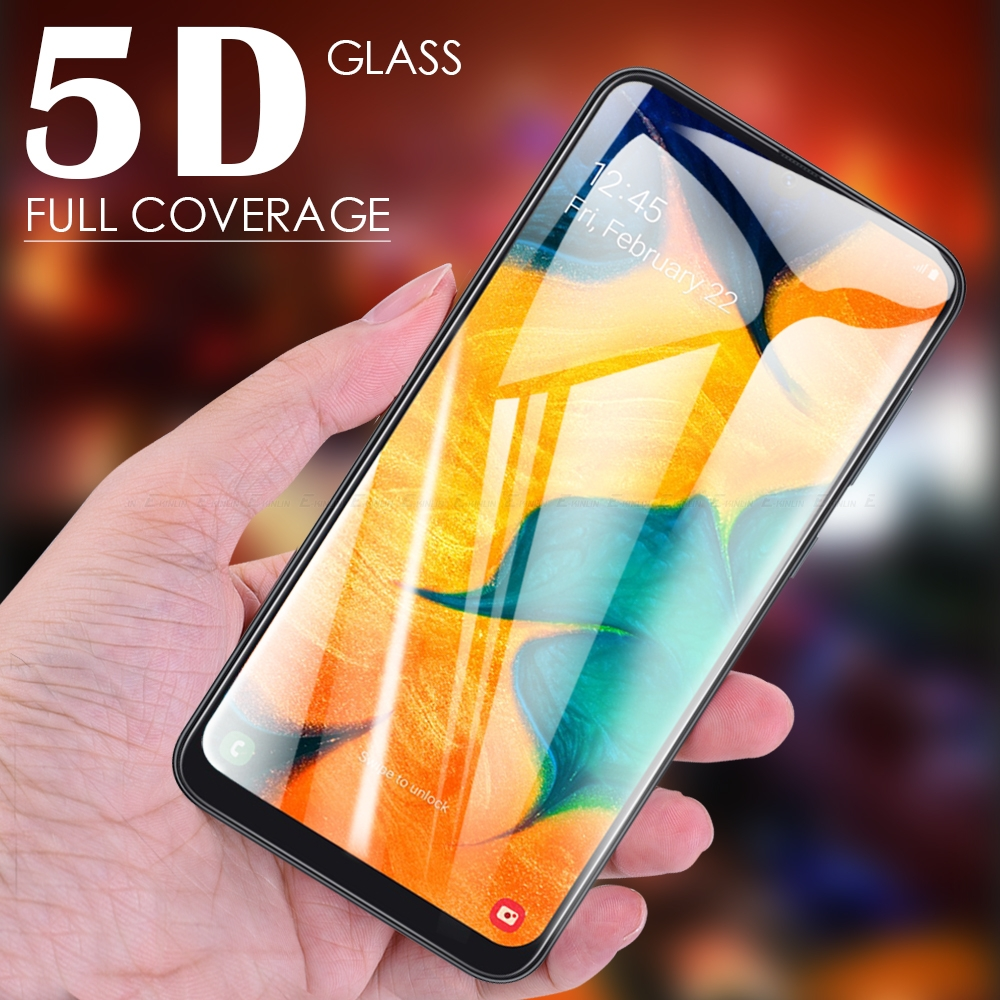 Full Cover 5D Curved <font><b>Tempered</b></font> <font><b>Glass</b></font> Screen Protector For <font><b>Samsung</b></font> Galaxy A90 5G A80 A70 A60 A50 A40 A30 A20 <font><b>A10</b></font> Protective Film image