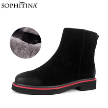 Ankle-Boots SOPHITINA Shoes Snow-Boot-Pc789 Low-Heel Comfortable Outdoor Winter Women