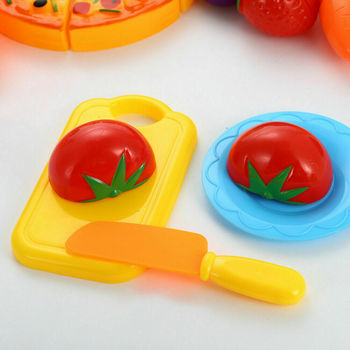 Wooden Children's Educational Toys Early Childhood Play House Simulation Cutting Fruits and Vegetables Honestly Happy цена 2017