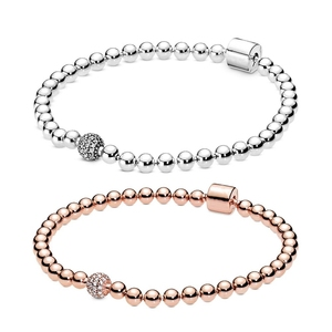 NEW 100% 925 Sterling Silver Pandoras Charms Beads & Pavé Bracelet Create a chic look punk styles DIY Gife