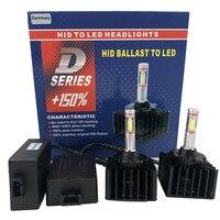 DarkAway D1S LED Bulb D3S D2R D2S D4S D5S D8S Car Headlights Lamp 35W 4000Lm Plug Play to Original HID Ballast Canbus Error Free