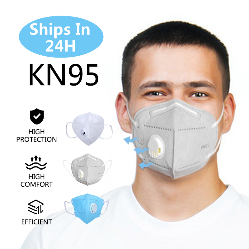 50pcs 5 Layer KN95 Mask Particulate Respirator PM2.5 Protective Safety Same As KF94 FFP3 Flu Anti Infection KN95 Masks