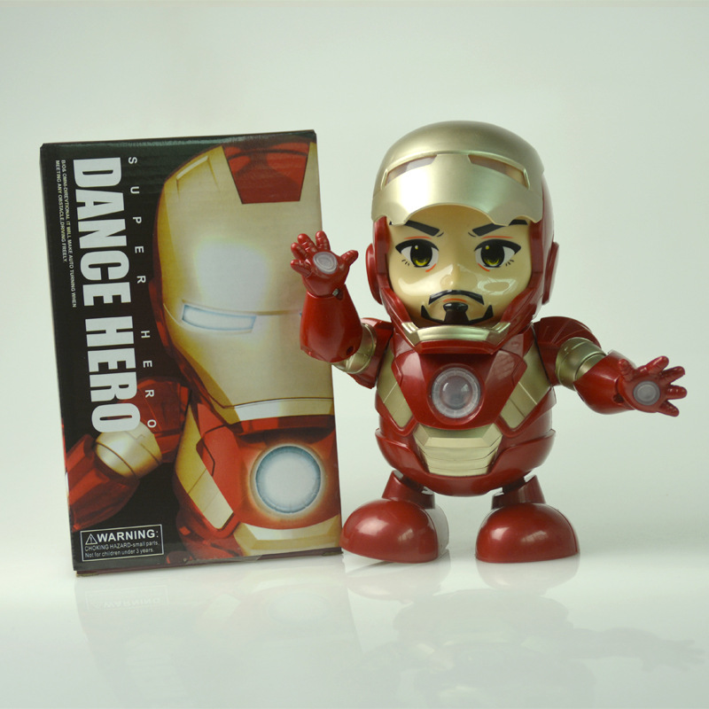 Douyin Hot Selling Dancing Of Iron Man Music Lights Cute Electric Dancer Robot Toys