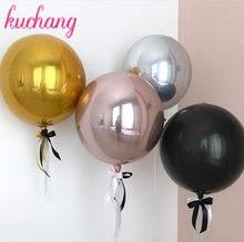 Balões de metal para decoração de 18/22/32 polegadas, balão redondo dourado para festa de aniversário, gás hélio, decoração para festival de casamento, 1 peça suprimentos