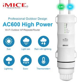 Répéteur WiFi extérieur Extender WiFi longue portée 5G Ultraboost WiFi Booster AC600 Wi-Fi amplificateur routeur sans fil Point d'accès