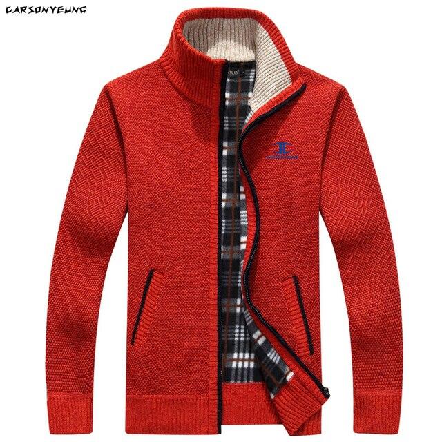 Зимний мужской толстый свитер на молнии с подкладкой и высоким воротником 4