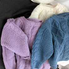 Coat Sweater Cardigan Teenager Knitted Girl Korean Tops Kids Children Fall Outfits Loose