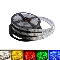 5V 12V 24 V Светодиодный светильник полосы ТВ Подсветка светильник Водонепроницаемый SMD 5050 5M теплый белый 5 в возрасте от 12 до 24 Вольт RGB светодио...