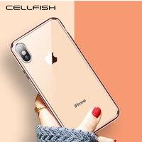 Funda transparente cromada galvanizada para iPhone XS MAX XR 8 7 6s 6 Plus 5s SE, CAPA de borde chapado en oro transparente