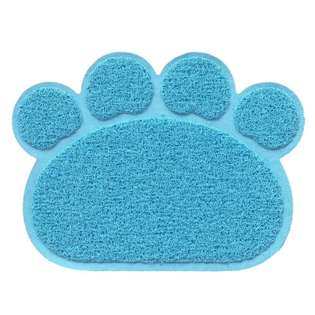 PVC Paw Print Pad Dog Cat Litter Mat Pet Puppy Kitty Dish Feeding Bowl Placemat Anti-skid Waterproof Sleeping Pad Warm Bat