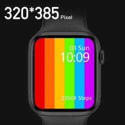 2021 Смарт-часы IWO W36, 44 мм, 1,75 дюйма, Беспроводная зарядка, IP68, водонепроницаемые спортивные Смарт-часы, фитнес-трекер PK W26 W46