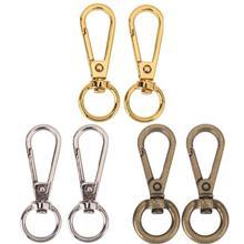 4 Uds. Vintage Metal bolsa de equipaje hebilla gancho a presión bolsa cierre DIY botones de cadena llave bolsa suspensión oro plata bronce 12/15mm