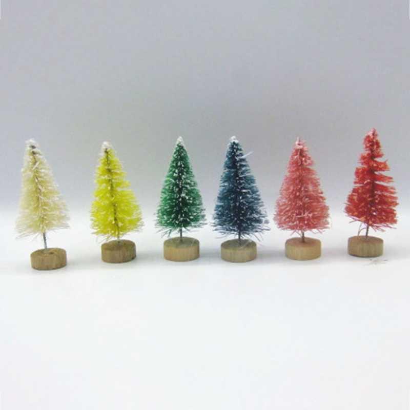 Tự Làm Cây Giáng Sinh Cây Thông Nhỏ Mini Cây Được Đặt Trong Máy Tính Để Bàn Trang Trí Nhà Trang Trí Giáng Sinh Trẻ Em Quà Tặng