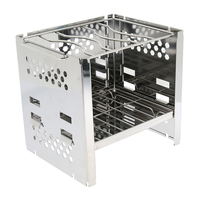 Outdoor Camping Stove Wind Shield Screen Windshield Grill Rack Gas Charcoal Camping Cooking Stove Stand