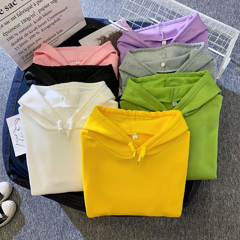 Korean Streetwear Sweatshirt Men Women Casual Pullover Hip Hop Long Sleeve Smile Sad Face Line Print Sport swear Tops Hoodies 6