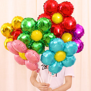 Creative Petal Flower Balloon Festival Party Heart Foil Balls Safe Colorful Balloons High Quality Wedding Decoration Wholesale