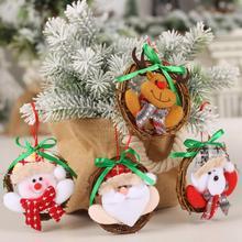 Lalka Rattan Ring wianek wiszące ozdoby dekoracje do domu na imprezę choinka bałwany dekoracje wiszące atrakcyjny kolor tanie tanio