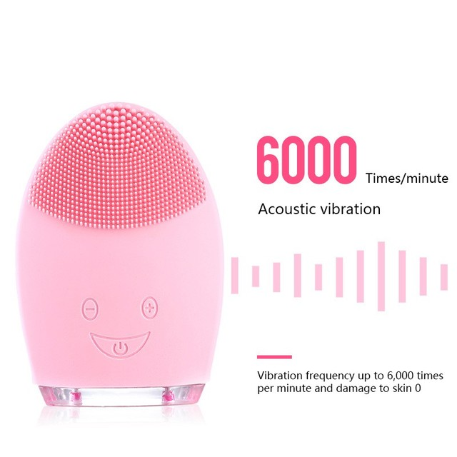 Electric Facial Cleansing Brush Silicone Sonic Vibration Mini Cleanser Deep Pore Cleansing Skin Massage Face Brush Phonophoresis 2
