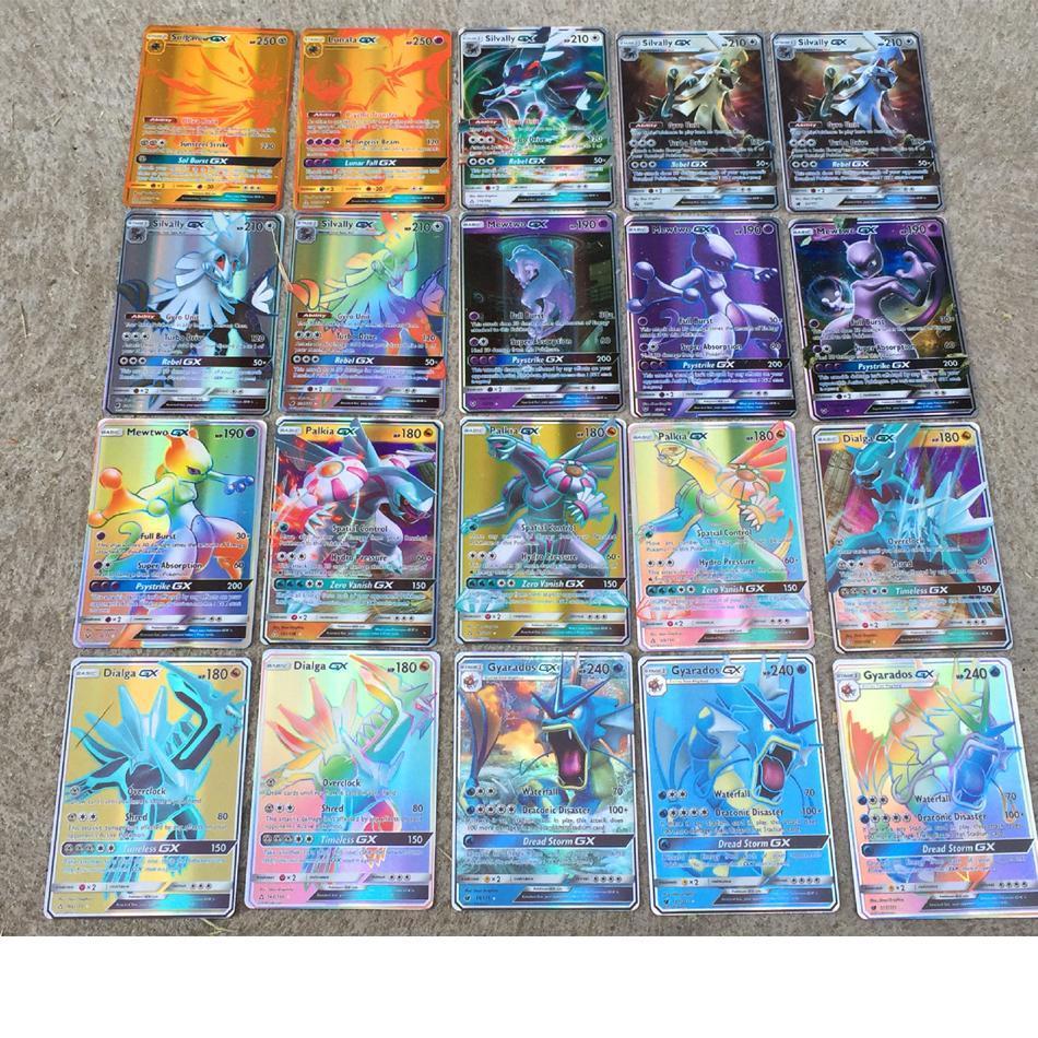 TAKARA TOMY Pokemon Card GX/200pcs MEGA Shining Cards Game Battle Carte Trading Game Cards Children Toy