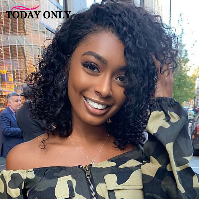 Short Curly Human Hair Wigs For Black Women Cheap Short Bob Wig Peruvian Remy Wigs With Bangs Bouncy Curl Cosplay Wigs