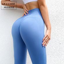 Spodnie damskie legginsy wysokiej talii strój do jogi damskie spodnie damskie joga legginsy gimnastyczne damskie legginsy sportowe trening leginsy damskie tanie tanio LA a L AISE MONDE CN (pochodzenie) Elastyczny pas COTTON Poliester spandex WOMEN Pasuje prawda na wymiar weź swój normalny rozmiar