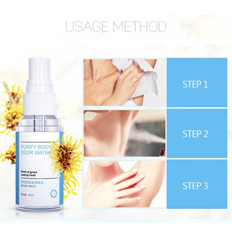 Long-lasting Prevent Sweating Remove Odor Deodorants Spray Underarm Antiperspirants Spray For Men Women Perfume