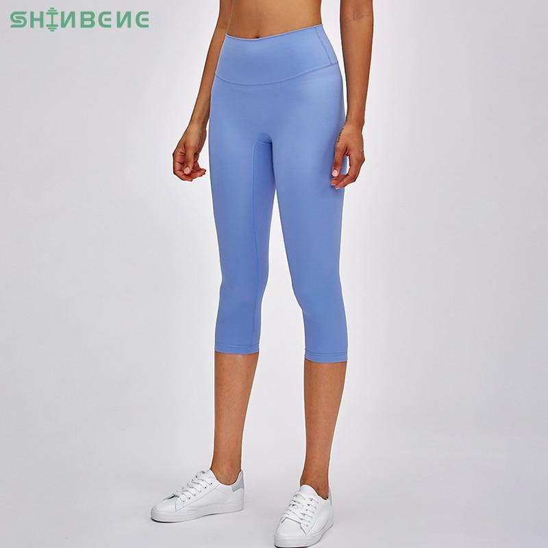 SHINBENE CLASSICAL 3.0 Naked-feel Yoga Fitness Capri Pants Women NO CAMEL TOE High Waist Sport Workout Cropped Pants Leggings