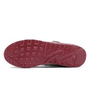 Image 5 - Ngouxm yaz kadın Flats rahat örgü kumaş içi boş kanca ve döngü konfor sığ hava yastığı Sole Mary Jane Platform ayakkabılar bayan