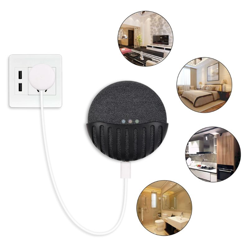 Portable Wall Mount Holder Kitchen Bedroom Hanger Stand Grip Organizer For Google Home Mini Speaker Accessories LX9A