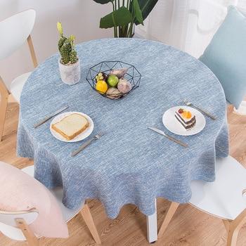 Mantel RZCortinas, mantel redondo para mesa de boda, mantel de algodón y lino, manteles nórdicos para té y café, decoración para el hogar y la cocina