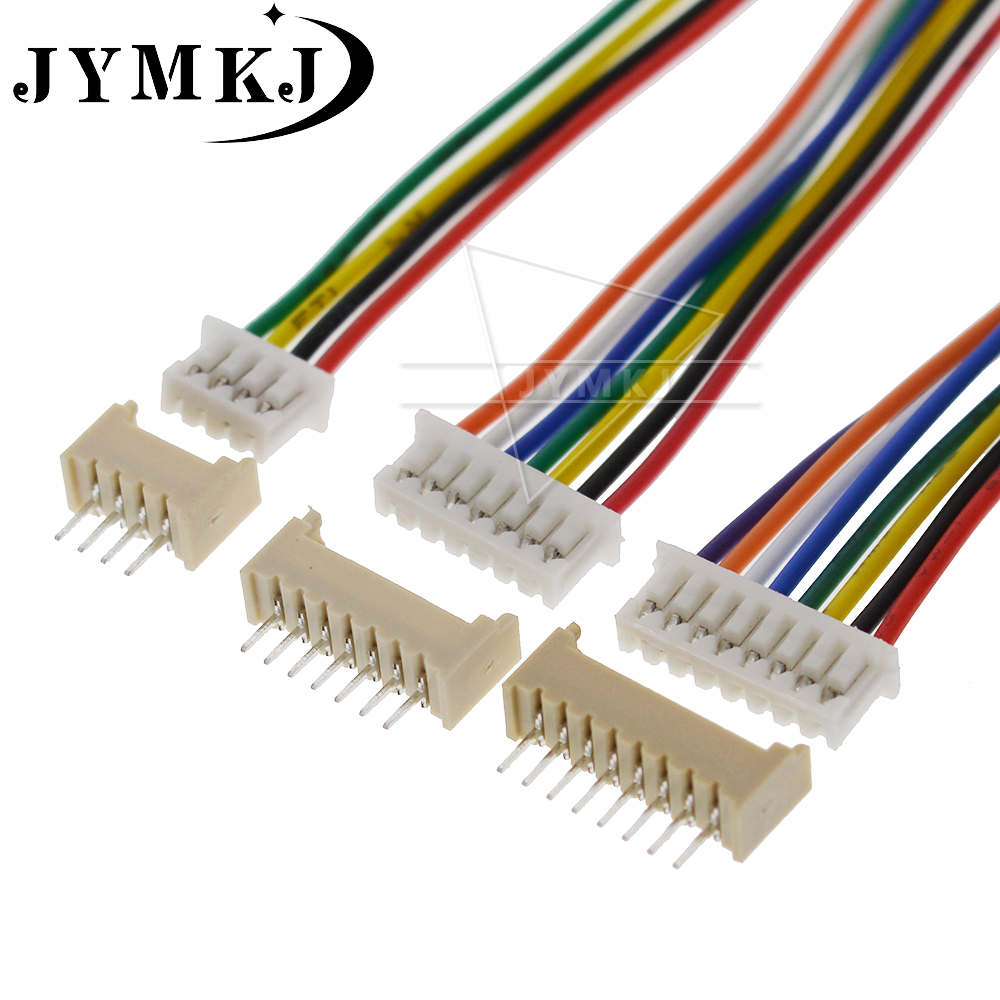 10Sets JST 1.25 JST 1.25mm Wire Cable Connector 2/3/4/5/6/7/8/9/10 Pin Pitch Male Female Plug Socket 100/150mm Wire 28AWG