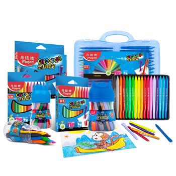 Maped plastikowe kredki kolorowe długopisy trygonometryczne kredki dziecko plastikowe kredki dla rodzajów prezent 12 18 24 36 48 zestaw dostaw sztuki tanie i dobre opinie CN (pochodzenie) 862436 Wosk caryon