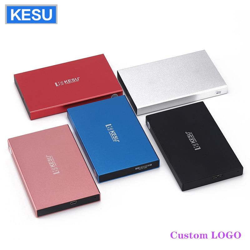 "Original KESU 2.5 ""métal mince Portable disque dur externe LOGO personnalisé USB 3.0 250GB 1 to 2 to stockage HDD disque dur externe HD"