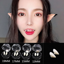 1Pair Plastic Halloween Adult Children Horror White Vampire Denture Canine DIY Party Dress Up Tooth Props