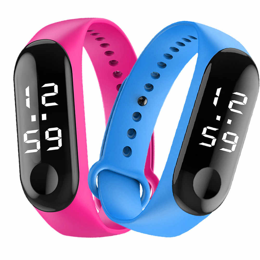 Montre de sport de mode pour enfants enfants LED étanche montre numérique Ultra-léger bracelet en Silicone adolescent garçons filles montre-bracelet unisexe