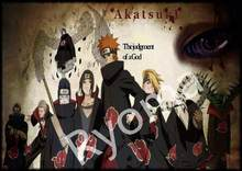 "Hot ""Naruto Akatsuki"" Poster Vintage Classic Anime Cartoon Kraftpapier Poster Schilderij Muurstickers Home Decoratieve Woonkamer(China)"