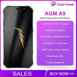 "Image 2 - AGM A9 IP68 JBL Co Branding 5.99"" Screen 4GB RAM 64GB ROM JBL Tuned Speakers Smartphone Android 8.1 5400mAh NFC OTG Mobile Phone"