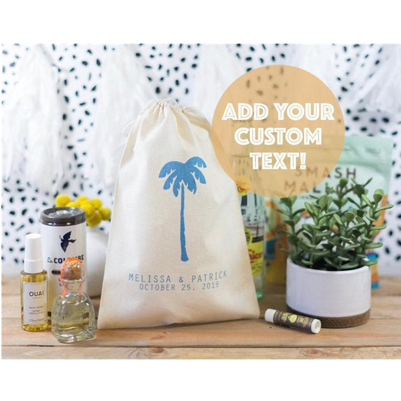 Beach Wedding Favor Bag Personalised Bachelorette Party Welcome Gift Bags Tropical Party Bag Birthday Gift Bag Hangovers Kit Bag